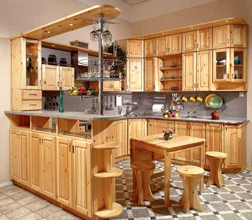 Мебель на кухню из дерева
